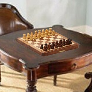 Magnetic Folding Portable Chess Game by Benzara