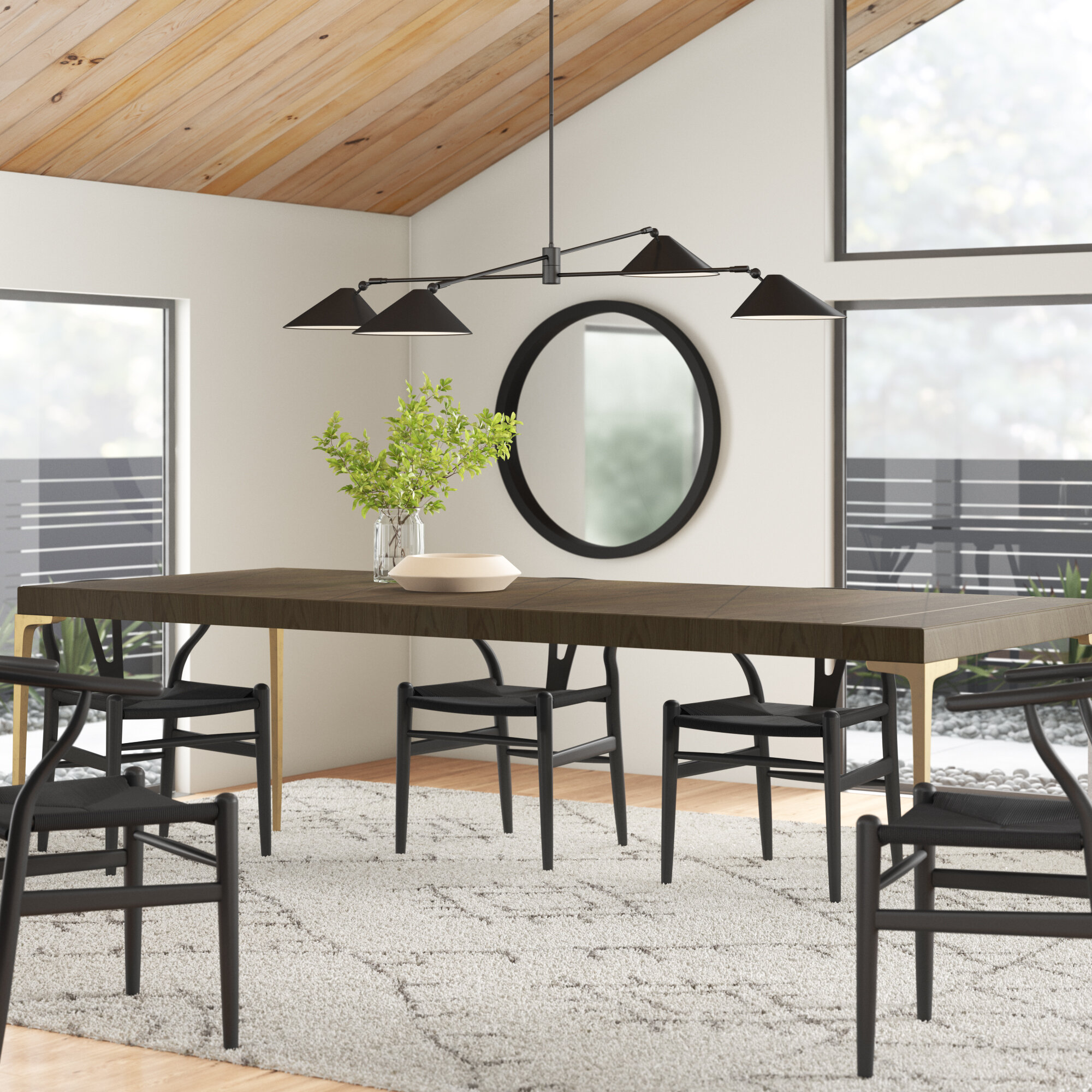 Parker Rubberwood Solid Wood Dining Table Reviews Allmodern