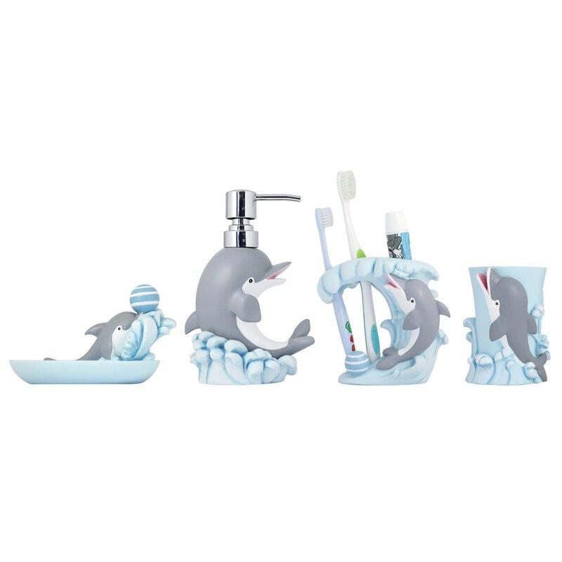 Harriet Bee Williar 4 Piece Kids Bathroom Accessories Set Reviews Wayfair