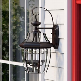 Three Posts Mellen 3-Light Outdoor Wall Lantern