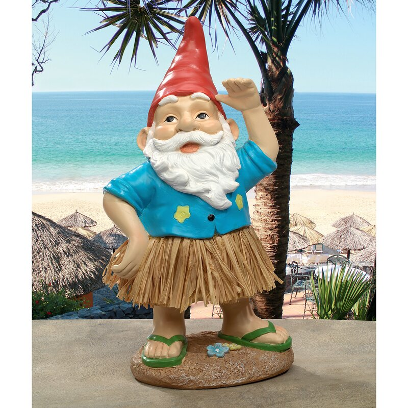 Design Toscano Hawaiian Hank Gr Skirt Gnome Statue & Reviews ... on