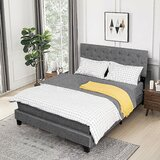 Autom Queen Tufted Standard Bed by Latitude Run