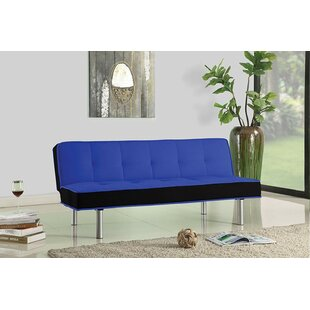 Latitude Run Maud Sturdy Flannel Fabric Adjustable Convertible Sofa