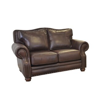 Westford Leather Loveseat by Westland and..