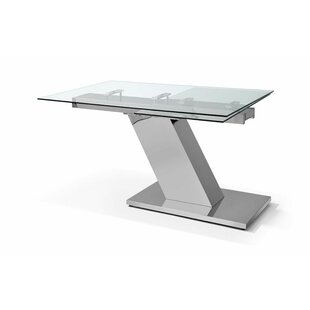Sleek Extendable Dining Table Whiteline Imports