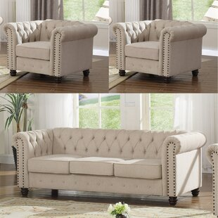Reviews Howington 3 Piece Living Room Set by Alcott Hill Reviews (2019) & Buyer's Guide