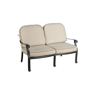 Darby Home Co Dunnes Loveseat with Sunbrella Cushions (Set of 2)