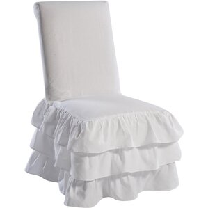 Charming Parson Chair Skirted Slipcover