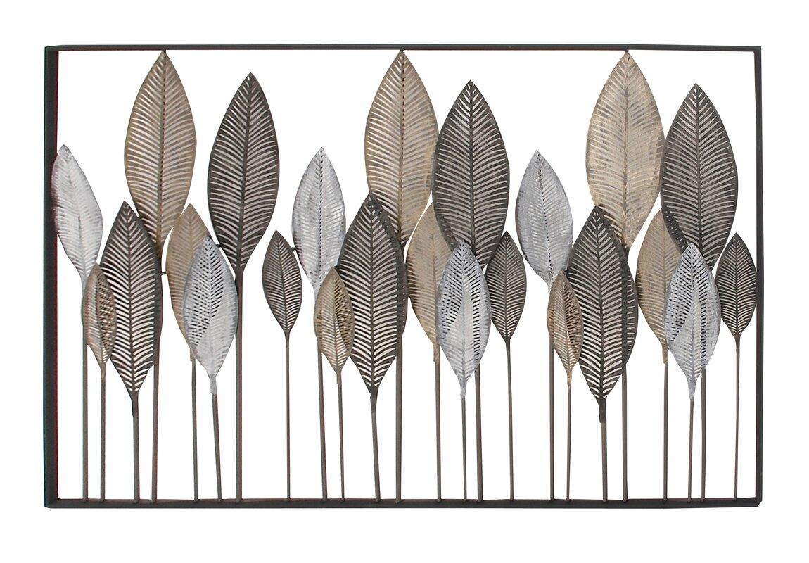 Captivating Metal Leaf Wall Décor
