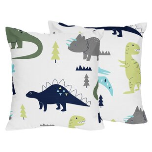 Mod Dinosaur Throw Pillow (Set of 2)