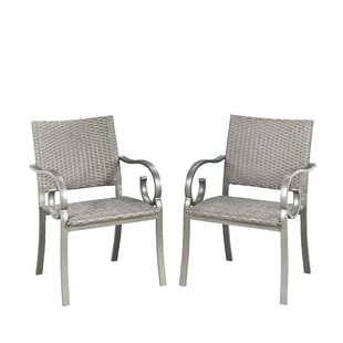 Cottonwood Stacking Patio Dining Chair (Set of 2) by Fleur De Lis Living