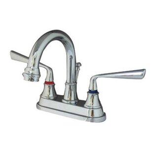 Elements of Design Copenhagen Centerset Bathroom Faucet with Brass Pop-Up