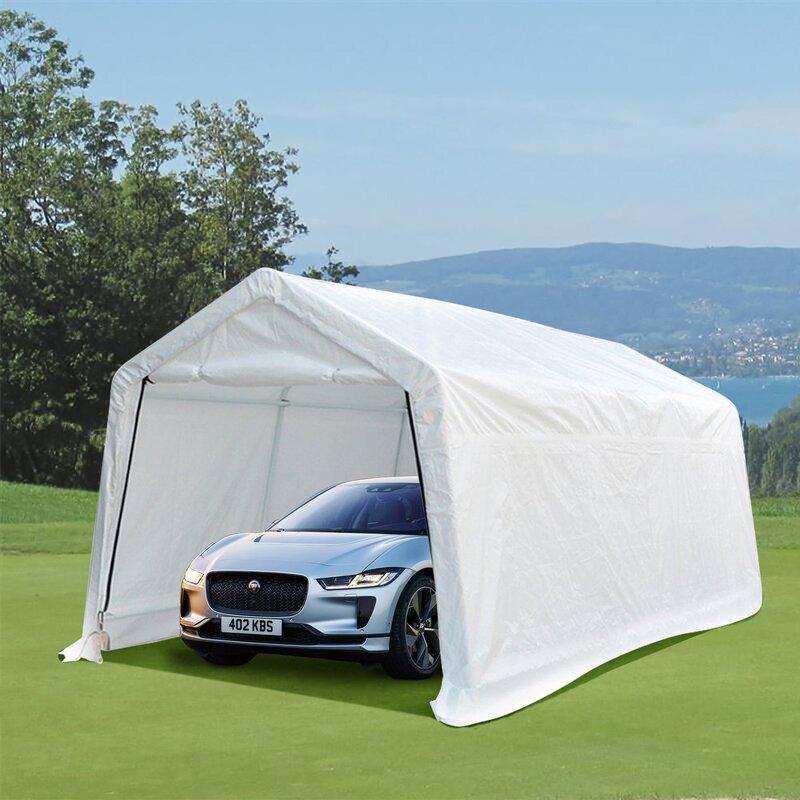 Wanme Heavy Duty Carport Outdoor Portable Car 10 Ft X 15 Ft Canopy Wayfair Ca