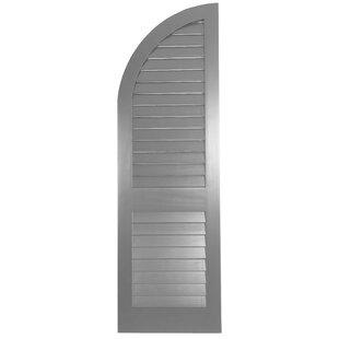 Western Cedar Louver Arch Top Shutter Single By Shutters By Design