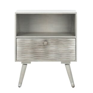 Goins Textured 1 Drawer Nightstand