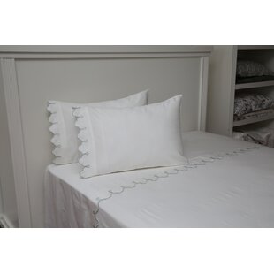 Claudie Embroidered Cotton Standard Pillow