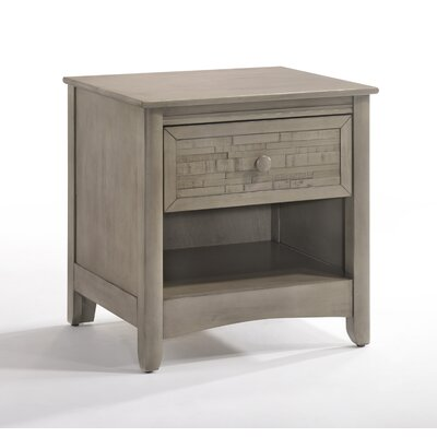 Secrets Cape Cod 1 Drawer Nightstand Night & Day Furniture Color: Gray Wash