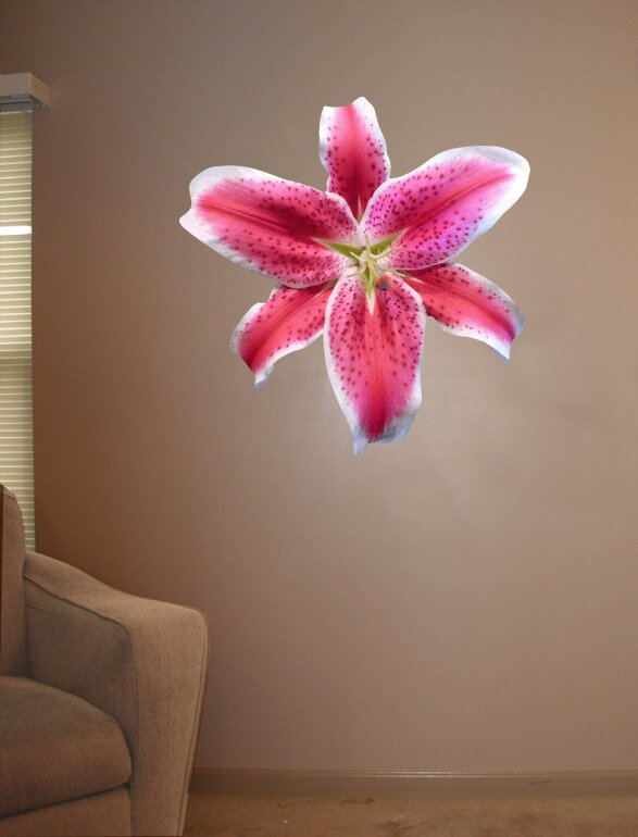 Ebern Designs Goudeau Cutout Stargazer Lily Wall Decal Wayfair