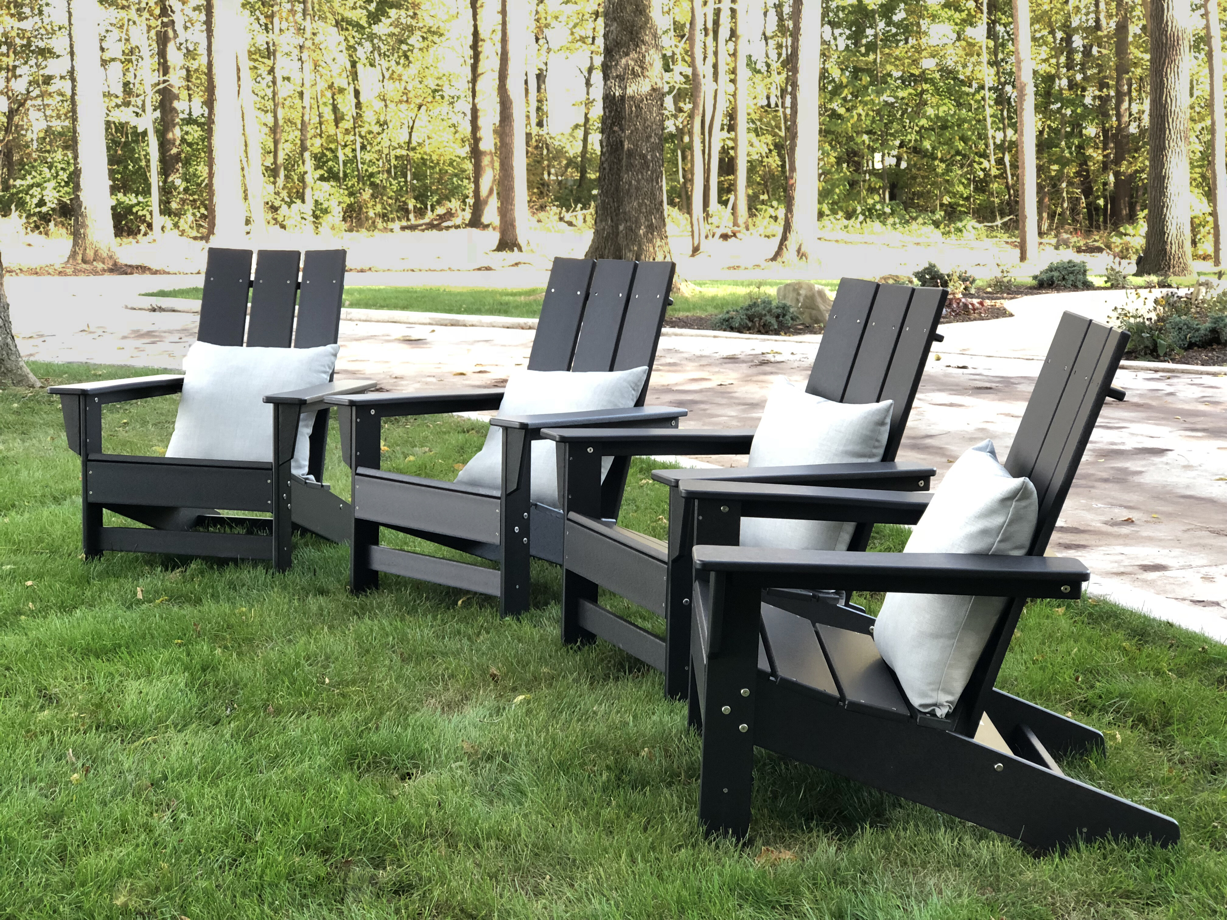 Foundstone Marvin Plastic Resin Adirondack Chair Reviews Wayfair