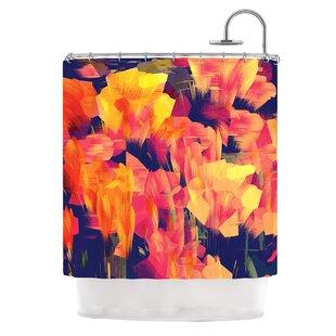 KESS InHouse Geo Flower Shower Curtain