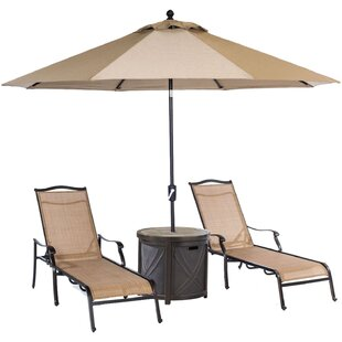 Carlee 4 Piece Sun Lounger Set with Table