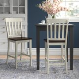 Aguero Solid Wood 24 Counter Stool (Set of 2) by Canora Grey
