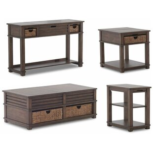 Rosecliff Heights Coffman 4 Piece Coffee Table Set