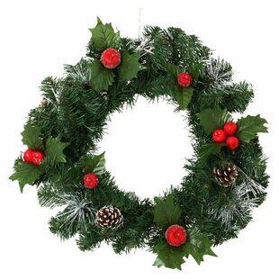 Lotti 40cm Holly Wreath Image