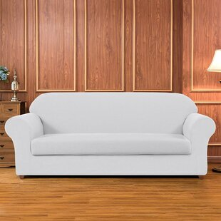 Geometric Printed Stretch Box Cushion Sofa Slipcover by Winston Porter