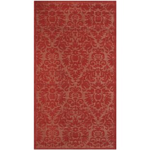 Catori Red Solid Indoor/Outdoor Area Rug