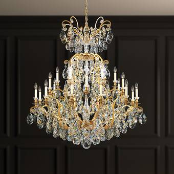 Everly Quinn Phyllida 4 Light Statement Empire Chandelier With Crystal Accents