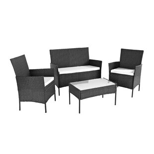 Nickolas 4 Seater Rattan Sofa Set With Cushions By Sol 72 Outdoor