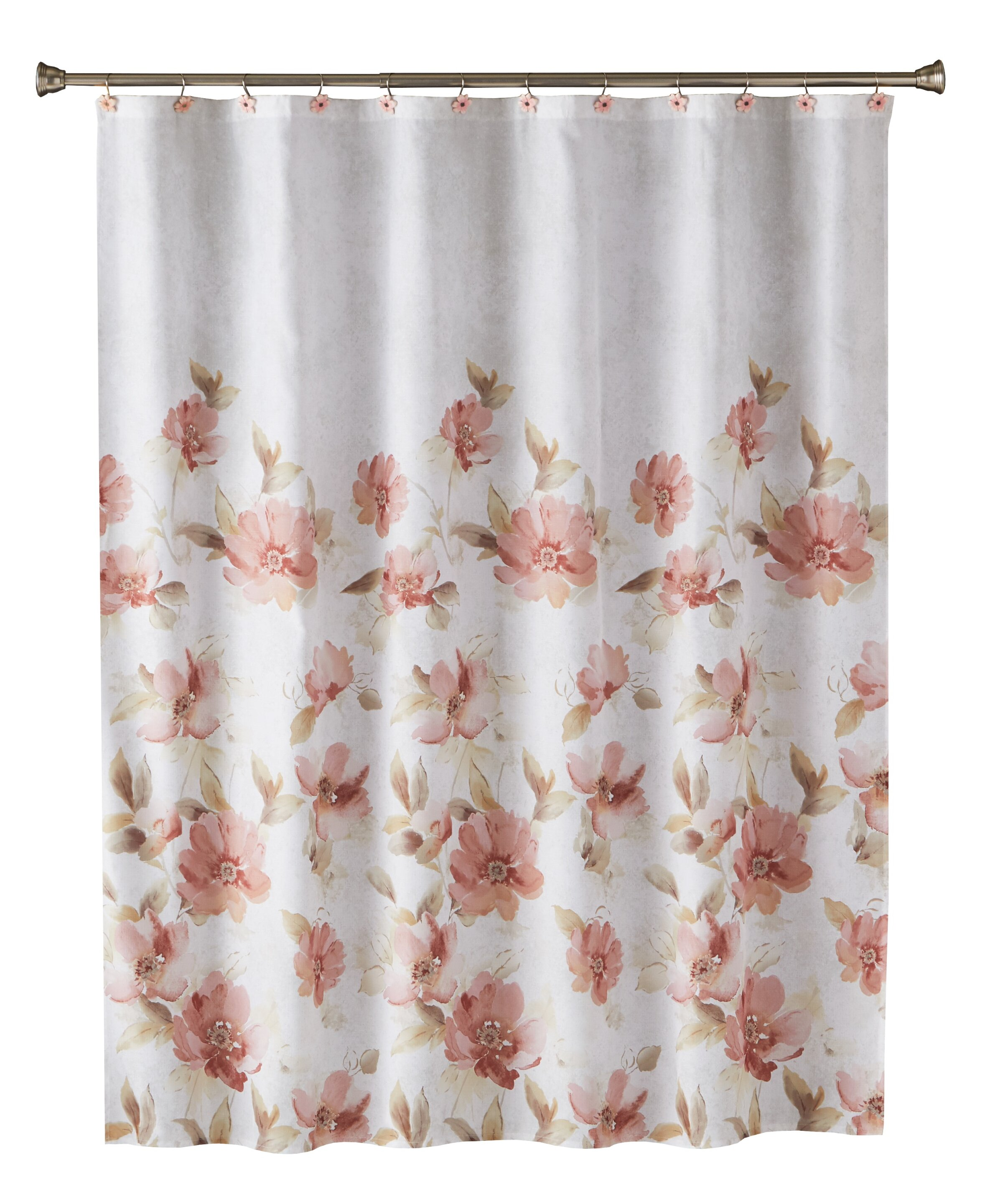 House Of Hampton Sulema Floral Single Shower Curtain Reviews Wayfair