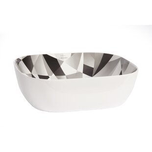 Affordable Olea Ceramic Rectangular Vessel Bathroom Sink ByHispania Home