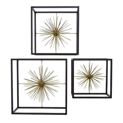 Brayden Studio 3 Piece Geometric Sunburst Wall Décor Set