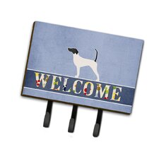 English Pointer Welcome Leash or Key Holder by Caroline's Treasures
