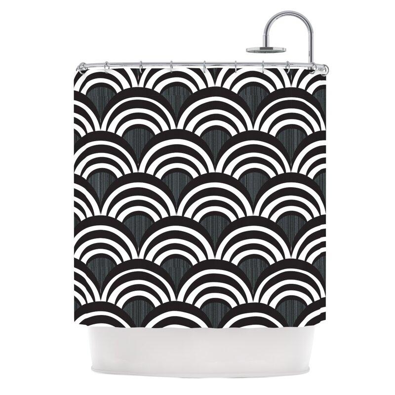 kess inhouse art deco shower curtain & reviews | wayfair