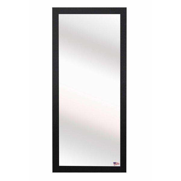 Full Body Wall Mirror latitude run rectangle black full body wall mirror   wayfair