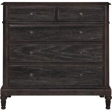 Belgian Oak 5 Drawer Dresser by Bernhardt