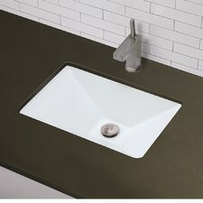 Wonderful Classically Redefined Rectangular Pyramidal Undermount Bathroom Sink With  Overflow