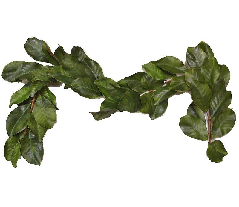 August Grove Faux Magnolia Leaf Garland Reviews Wayfair