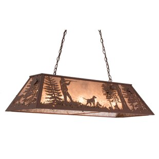 Meyda Tiffany Quail Hunter with Dog 9-Light Pendant