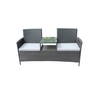 Epsom 2 Piece Rattan 2 Person Seating Group with Cushions