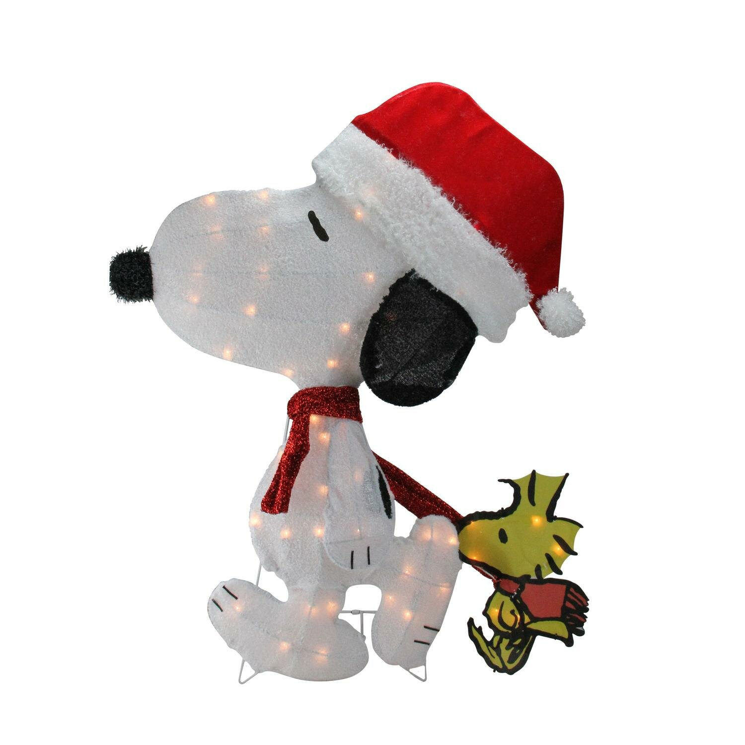 """SNOOPY /& WOODSTOCK ORNAMENT ABOUT 3/"""" TALL VERY CUTE NEW"""