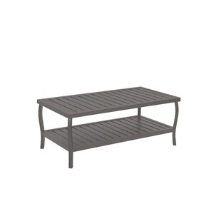 Cottage Rectangular Wrought Aluminum Coffee Table