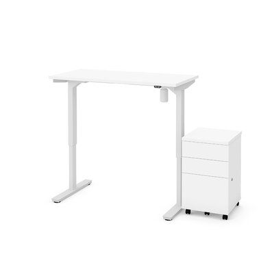 Symple Stuff Tanya 2 Piece Electric Height Adjustable Desk Office Suite