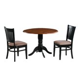 Pam 3 Piece Drop Leaf Solid Wood Dining Set by Charlton Home®
