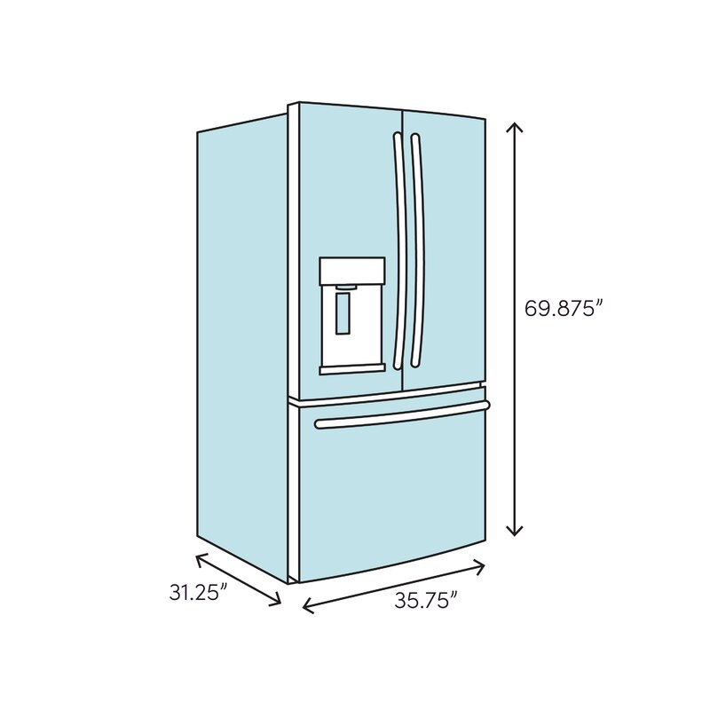 22 2 cu  ft  Energy Star® Counter Depth French Door Refrigerator