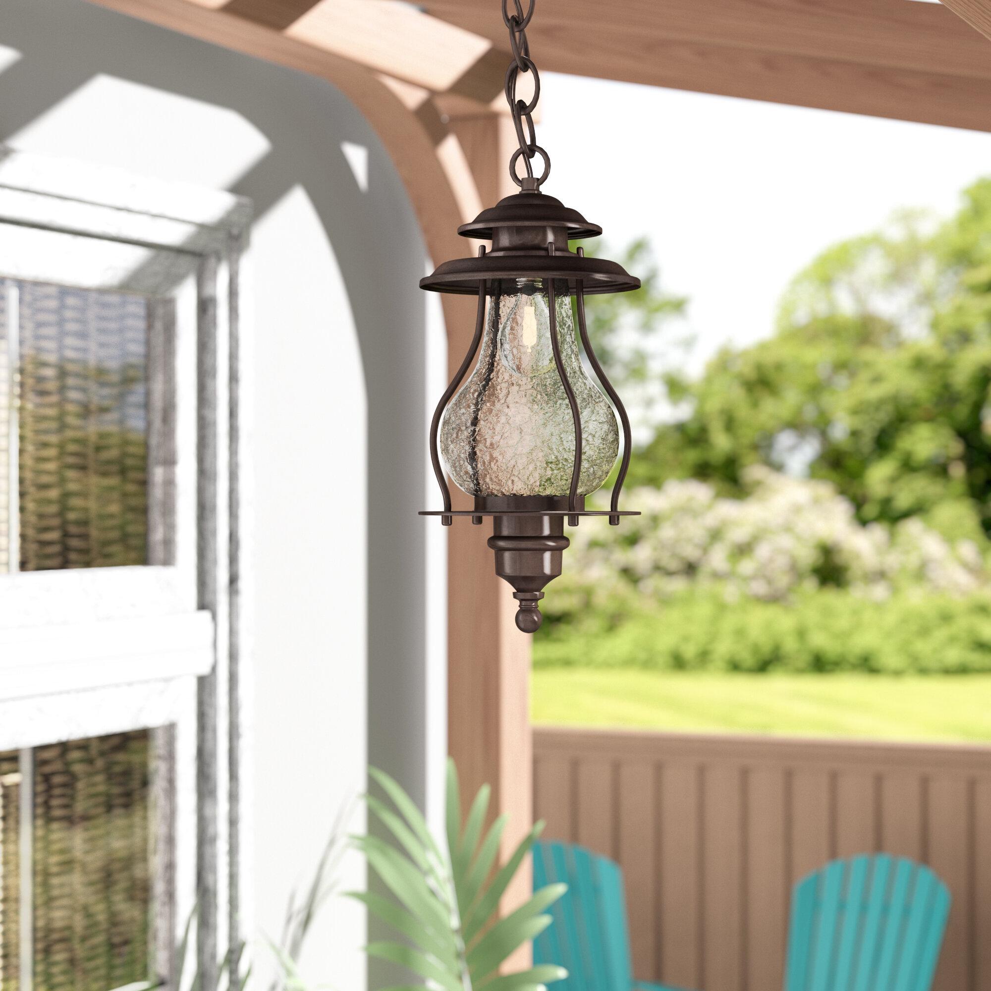 Beachcrest Home Kentwood 1 Bulb 16 5 H Outdoor Hanging Lantern Reviews Wayfair