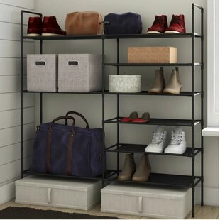 Multi Purpose 27 Pair Stackable Shoe Rack Rebrilliant